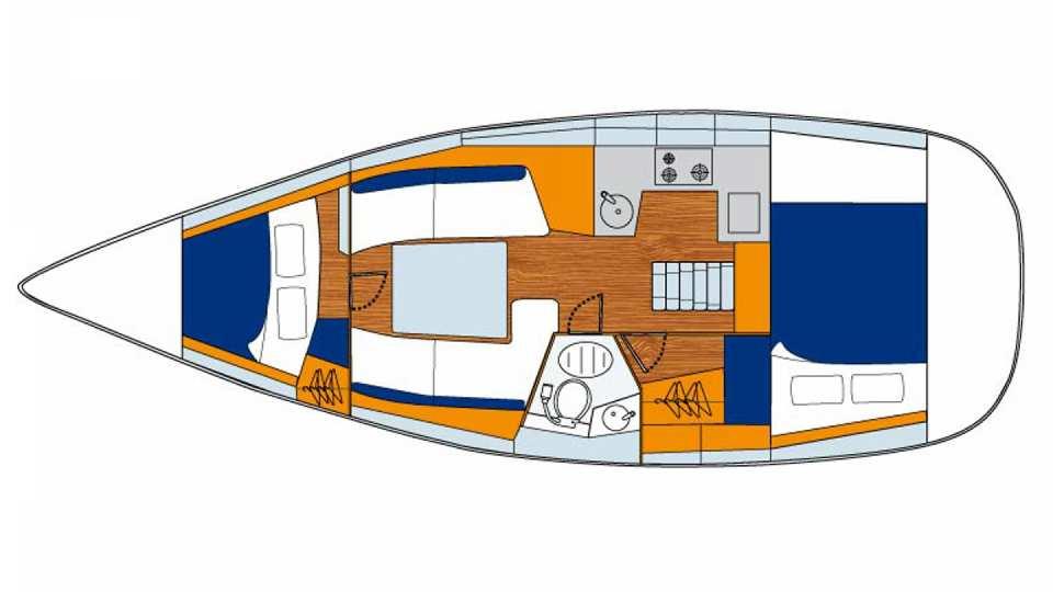 Bateaux monocoque sunsail 32i sunsail for Cuisinier bateau