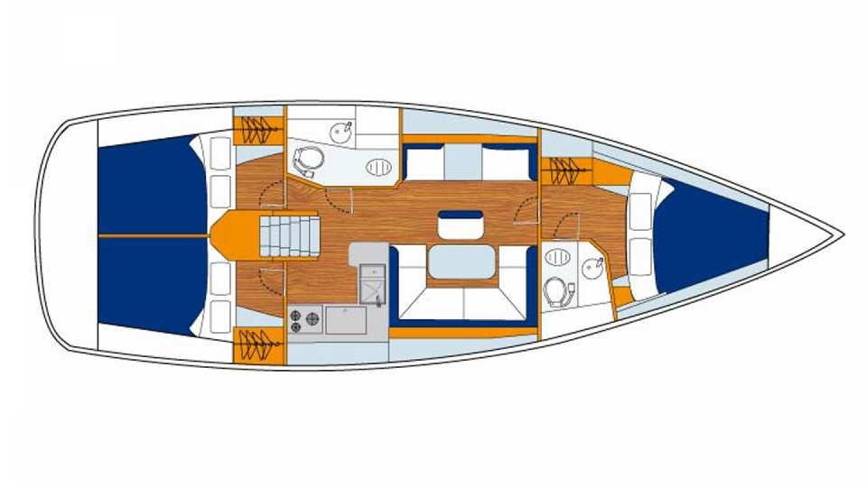 Bateaux monocoque sunsail 41 sunsail for Cuisinier bateau