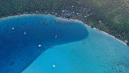 Bora Bora anchorage from above