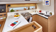 Sunsail 44 galley