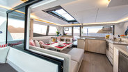 Interior salon view of Sunsail 454L