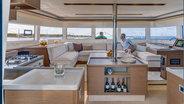 Sunsail 505 Catamaran Lagoon saloon view